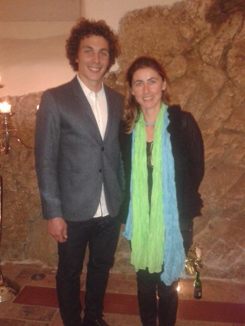 Gabriela mit Baumgartlinger Julian nach den Ehrungen im Schloss am 31.10.2015